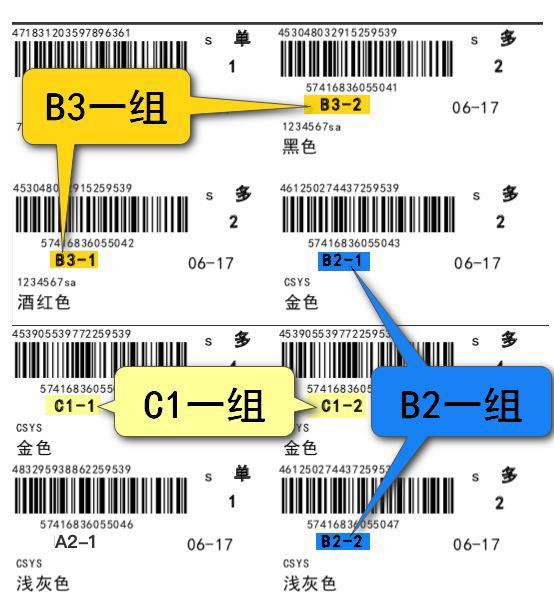 拿货小标签规则示意图
